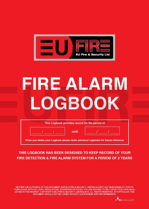 Fire Alarm Log Book Product Eu Fire And Security