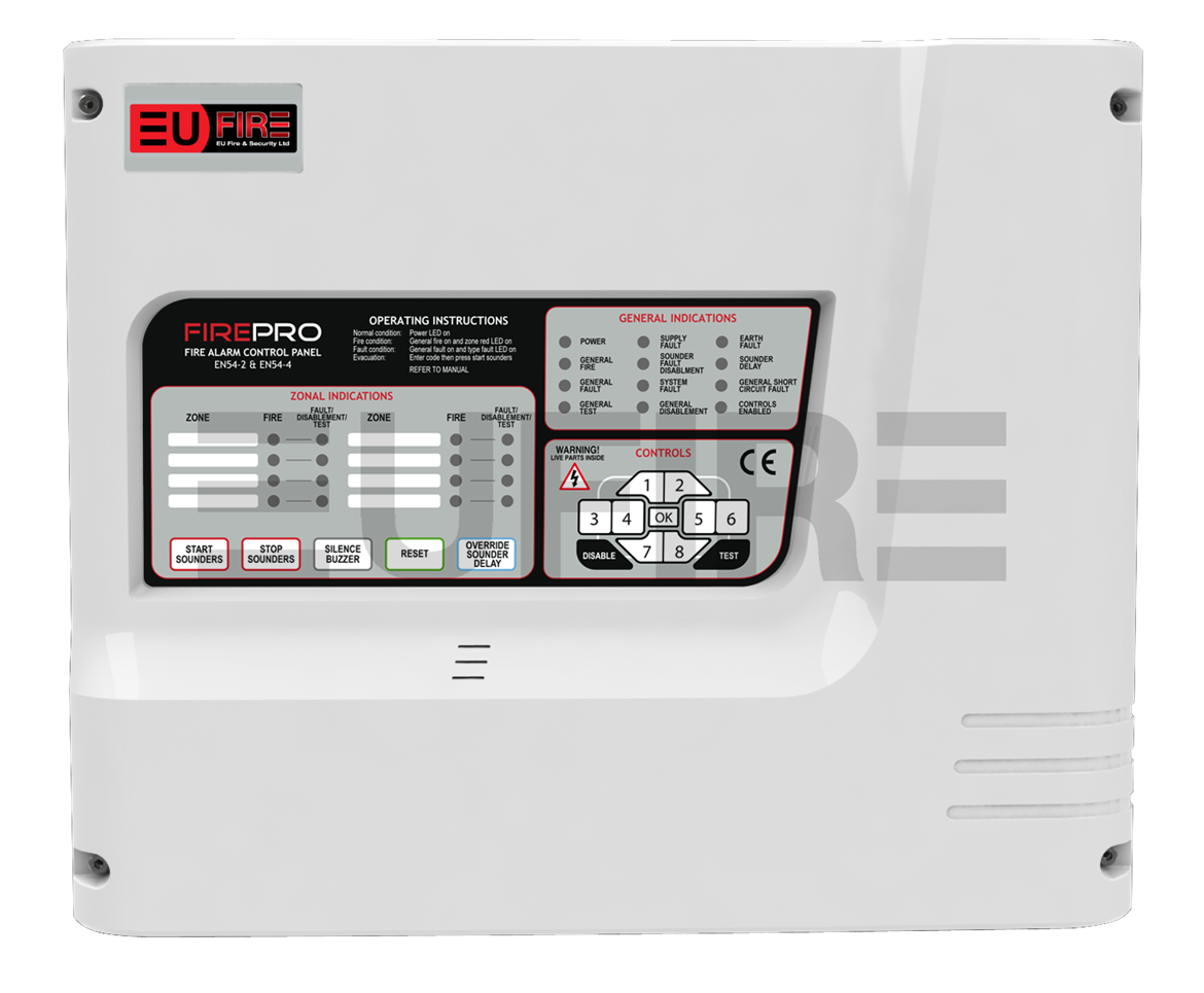 8 Zone FIREPRO Panel | Product | EU Fire and Security